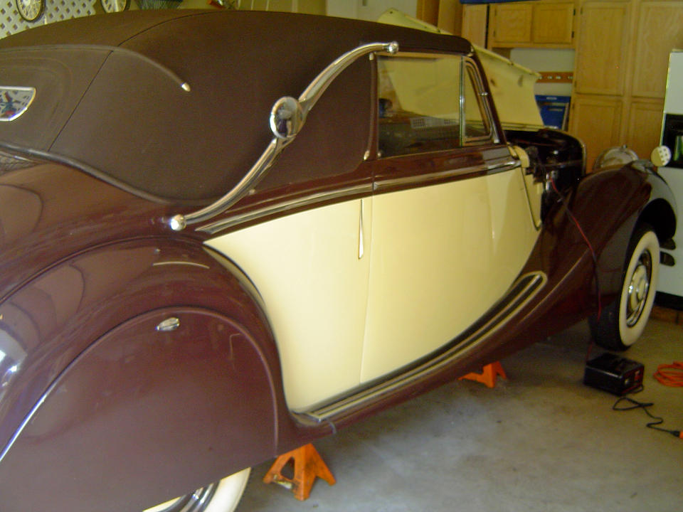 In the present ownership since 1953,1951 Jaguar Mark V Drophead Coupe  Chassis no. 647490 Engine no. A 2820 (Mk VII – see text)