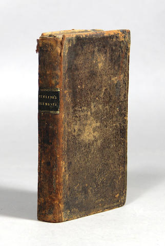 EUCLID. Elements. London: R. Daniel for William Nealand, 1660.