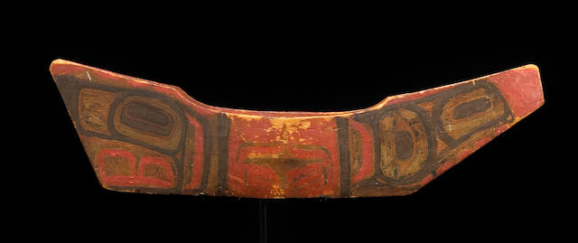 A Haida head canoe model