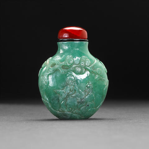 A jadeite snuff bottle