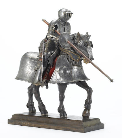 A miniature armor for man and horse