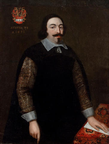 Flemish School, 17th Century Portrait of Jean Francois De Vroey 45 1/2 x 35in (115.6 x 88.9cm)
