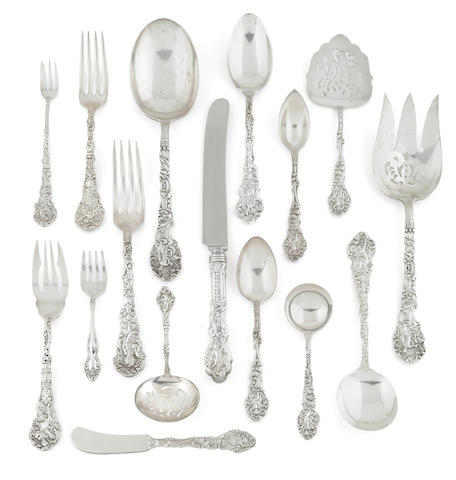 An American Sterling Silver Extensive Flatware Service, Gorham Mfg. Co., Providence, RI, Early 20th Century, In Versailles Pattern