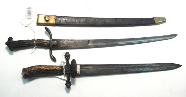 A lot of two continental hunting swords