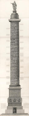 A pair of etchings depicting the Trajan column <br>after Giovanni Battista Piranesi (Italian, 1720-1778)