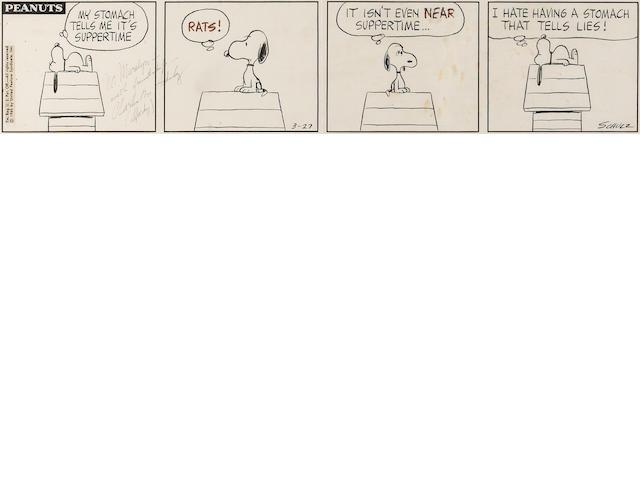 Charles M. Schulz (American, 1922-2000) Peanuts.