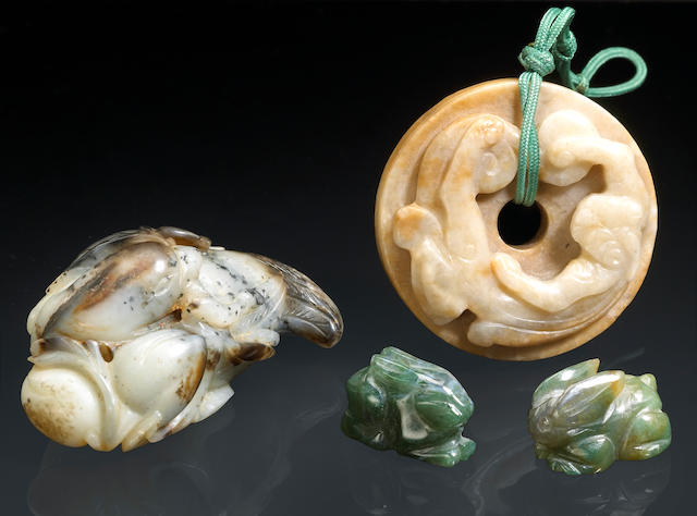 A group of jade decorations Qing Dynasty and Later