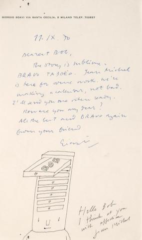 R.O. Blechman (American, born 1930) Mona Lisa's Smile / Le Sourire de Mona Lisa / Il Sorriso della Gioconda