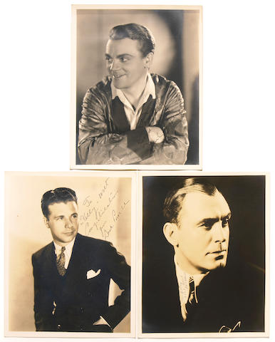 Hollywood leading men signed photographs