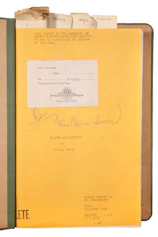 Norma Shearer Marie Antoinette script