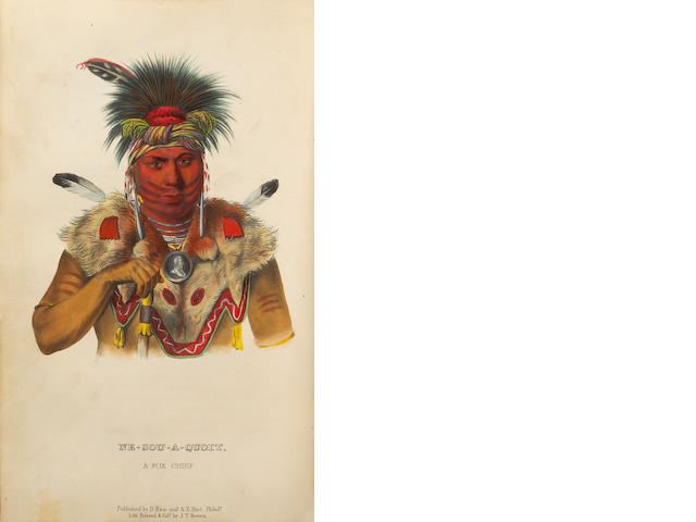 MCKENNEY, THOMAS & JAMES HALL. History of the Indian Tribes of North America.... Philadelphia: D. Rice & A.N. Hart, 1855.