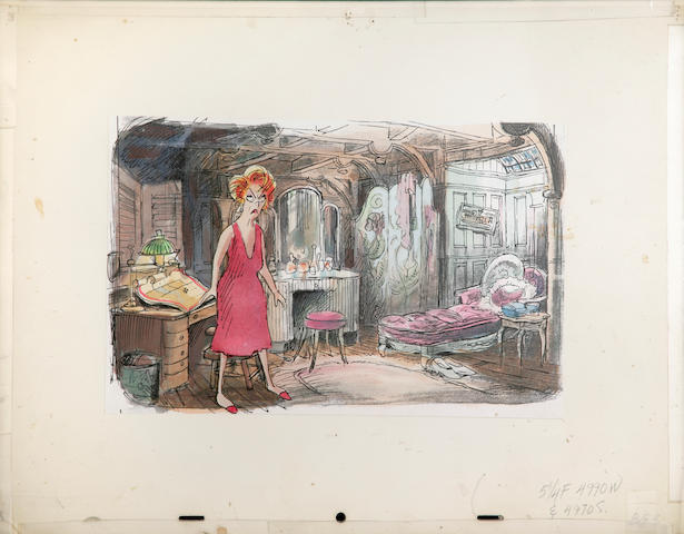 """A Walt Disney celluloid from """"The Rescuers"""""""