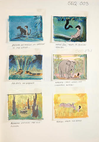 "A Walt Disney book of storyboards from ""The Jungle Book"""