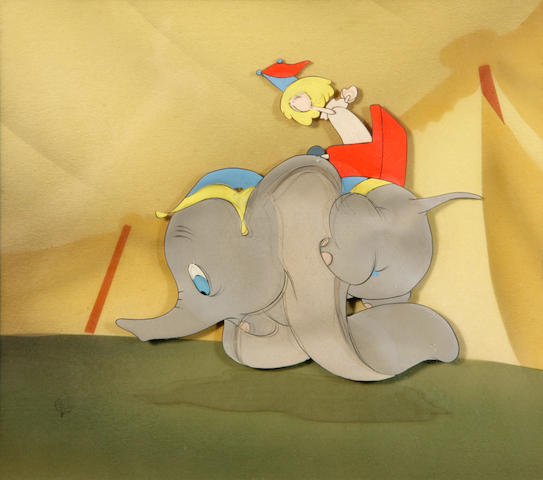 "A Walt Disney celluloid from ""Dumbo"""