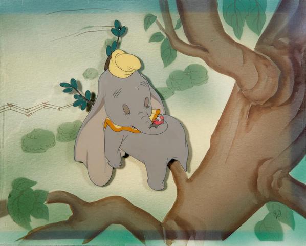 "A Walt Disney celluloid from ""Dumbo"""
