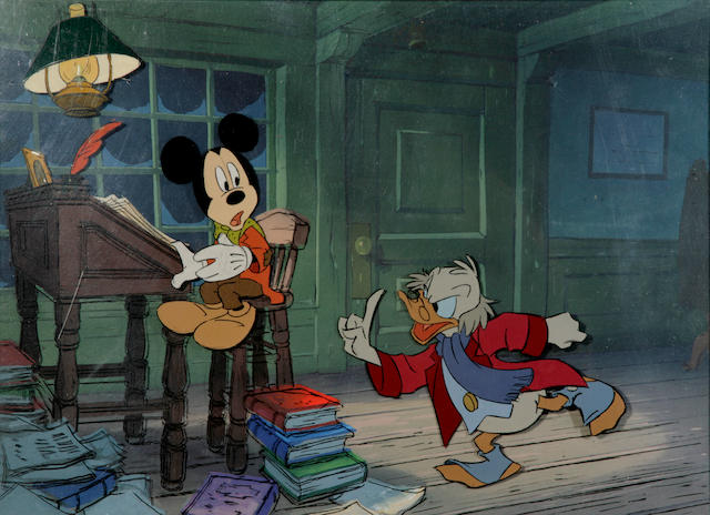 "A Walt Disney celluloid from ""Mickey's Christmas Carol"""