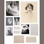 Norma and Constance Talmadge signed photographs