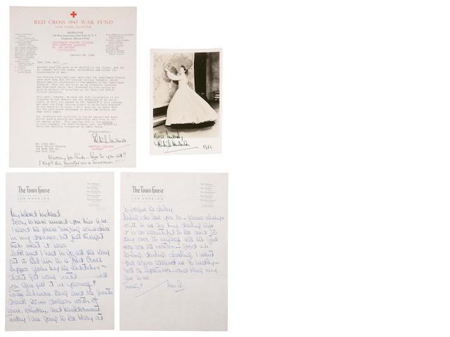 Gertrude Lawrence correspondence
