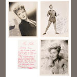 Mary Martin signed photographs and letters