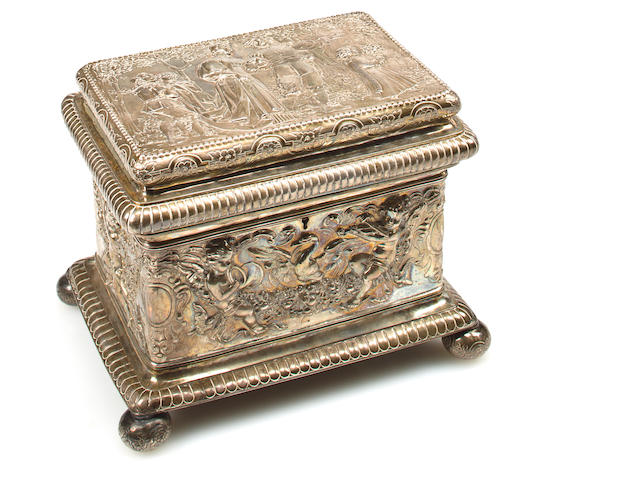 A German sterling silver casket<br>Nuremburg, early 20th century