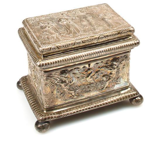 A German sterling silver casket<br>Nuremburg, early 20th century