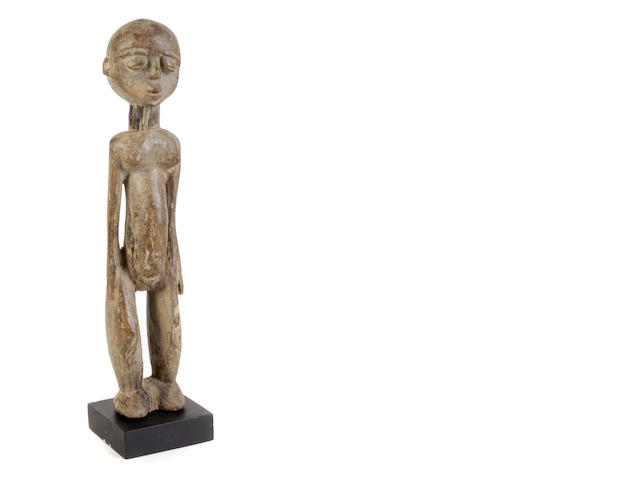 Lobi female figure height 14 1/2 inches