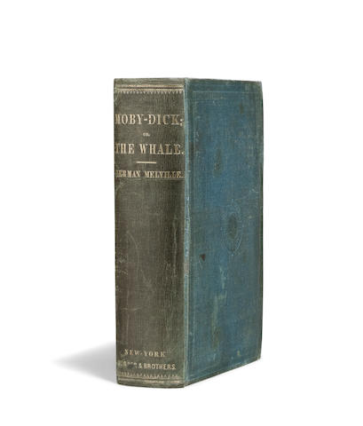 MELVILLE, HERMAN. 1819-1891. Moby-Dick; or, The Whale. New York: Harper & Brothers, 1851.