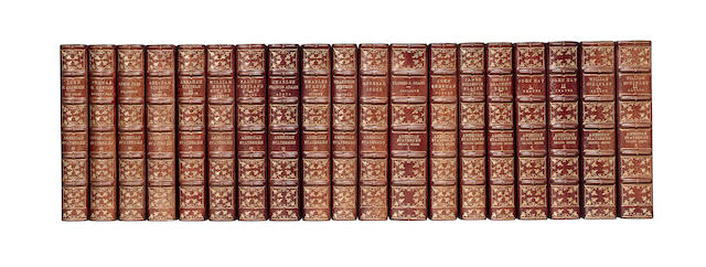 AMERICAN STATESMEN. SUPERB EXTRA-ILLUSTRATED SET WITH AUTOGRAPHS OF FRANKLIN, WASHINGTON, JOHN ADAMS, HAMILTON, MARSHALL, LINCOLN, GRANT, AND 30 OTHERS.  American Statesmen. And: American Statesmen. Second Series. Boston & New York: Houghton Mifflin, 1898-1916.