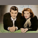 Katharine Hepburn twice-signed photograph