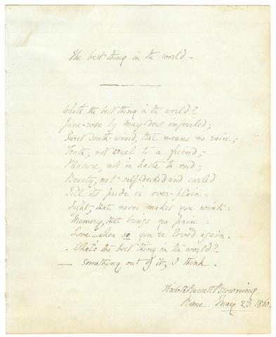 BROWNING, ELIZABETH BARRETT.