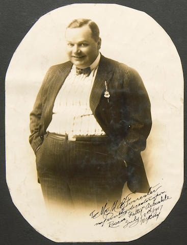 "Roscoe Arbuckle signed and Sennett ""Bathing Beauty"" photograph collection"
