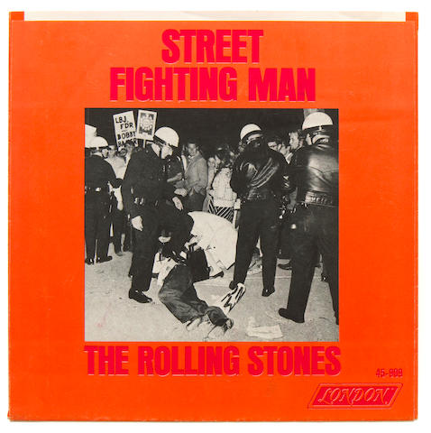 "The Rolling Stones ""Street Fighting Man"" picture sleeve"