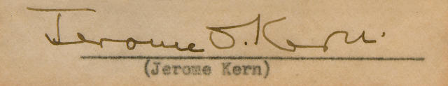 Jerome Kern signature