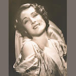 George Hurrell signed portrait of Norma Shearer