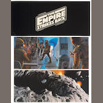 McQuarrie portfolio theater promotion kit and poster for The Empire Strikes Back