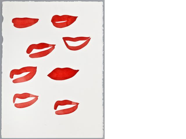 "Mats  Gustafson (Swedish, born 1950) ""Lips,"""
