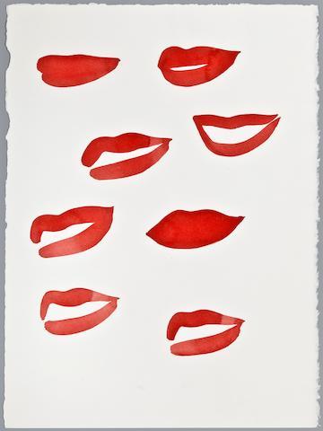 """Mats  Gustafson (Swedish, born 1950) """"Lips,"""""""