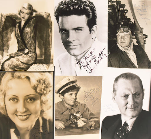 Vintage Hollywood star signed photos