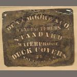 A tin stencil for the Benjamin Moore & Co.<br> early 20th century 24 x 29 in. (61 x 73.7 cm.) framed.<br> not examined out of the frame