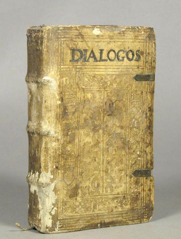 CASTALIONE, SEBASTIAN. 1515-1563. Dialogorum sacrorum libri quatuor. Prague: Georgius Jacobidis Dacziceni, 1579.