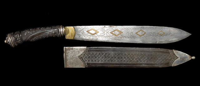 A silver-mounted Spanish Colonial dagger