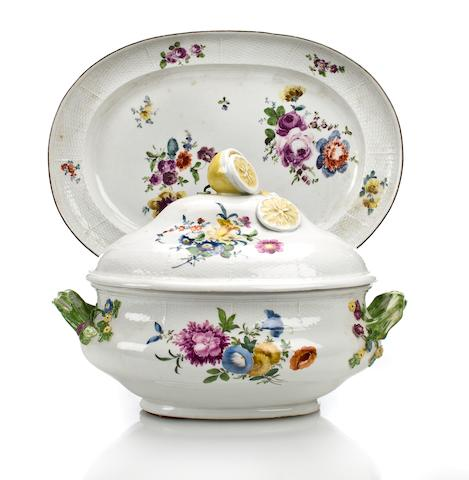 A Meissen porcelain covered soup tureen and stand