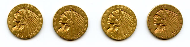 Indian Head Half Eagles (4)