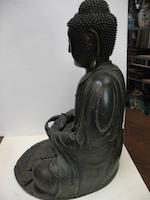 A large bronze seated Buddha Ming Dynasty