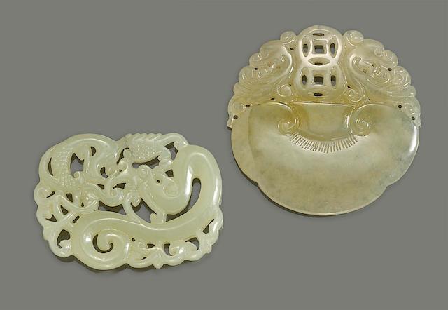 Two Nephrite pendants