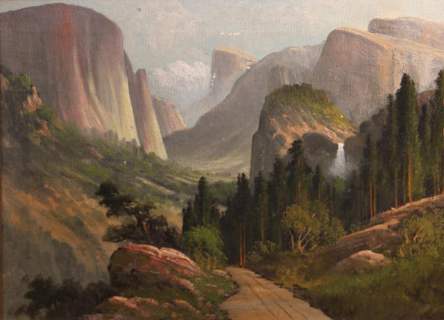 J. Hart, Yosemite Valley, signed l/r: J. Hart, o/bd, 18 x 40in