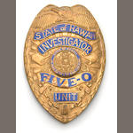 Hawaii Five-0 police badge