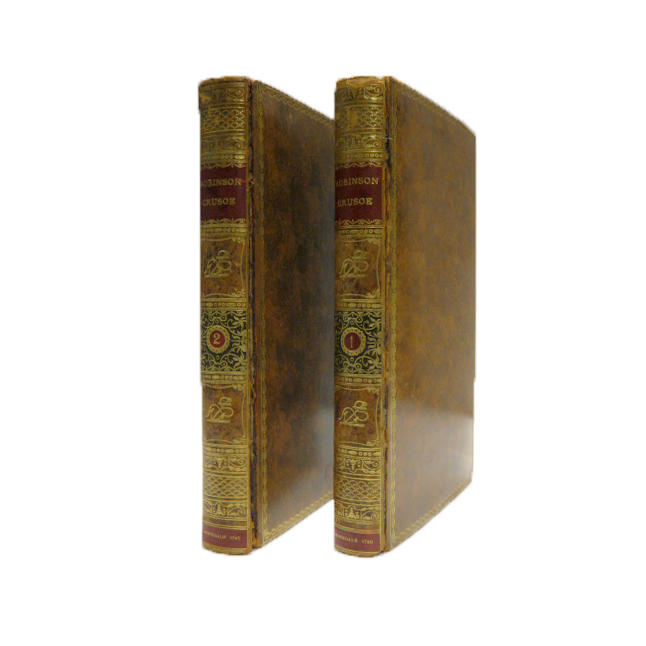 [DEFOE, DANIEL. 1659-1731.] The Life and Strange Surprizing Adventures of Robinson Crusoe.... London: John Stockdale, 1790.