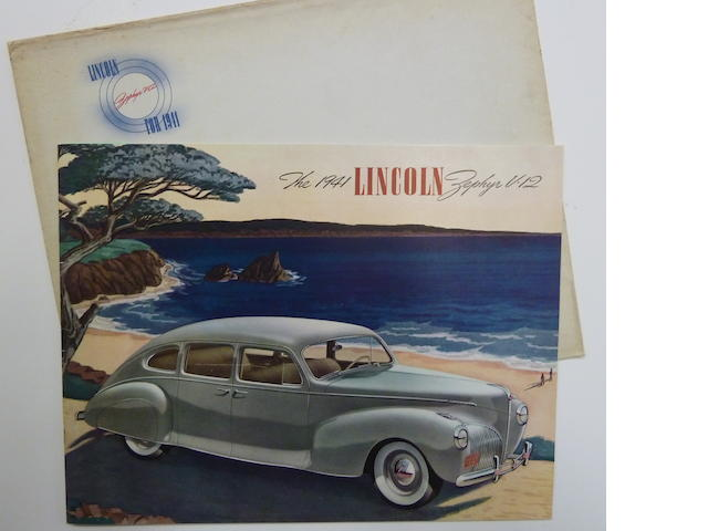A Lincoln Zephyr Sales Brochure, 1941,