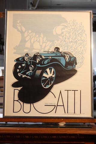 A Bugatti type 55 poster,